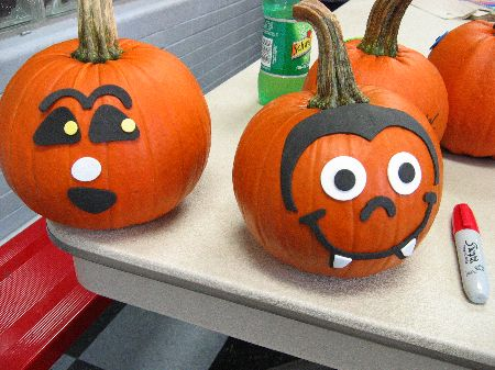 after the kiddies finished their pumpkin decorating chores west penn