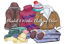 Blanket and winter clothing drive  