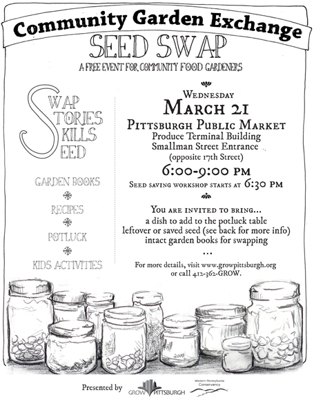 Community Garden Exchange Seed Swap And Potluck, March 21 At The