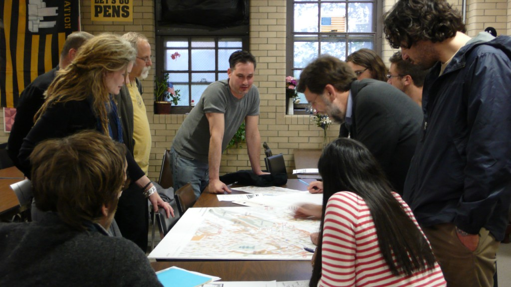 Photo of Community plan workshop w/ Rob P. & and group