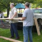 City crews building edible garden beds