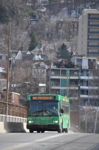 Bus on Herron Bridge