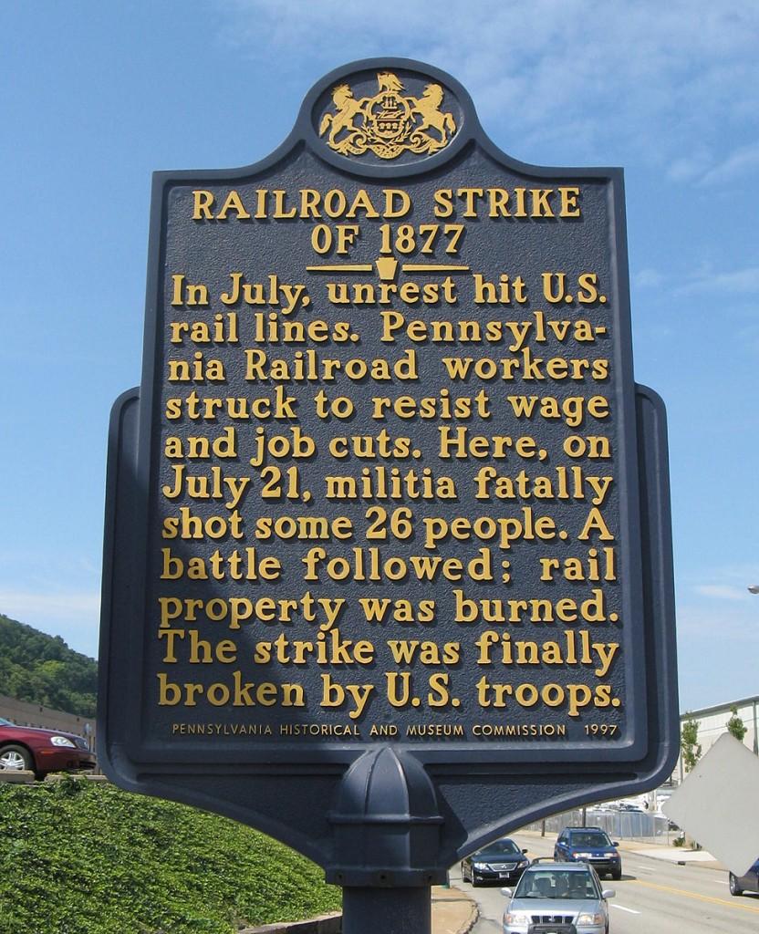 railroad strike marker