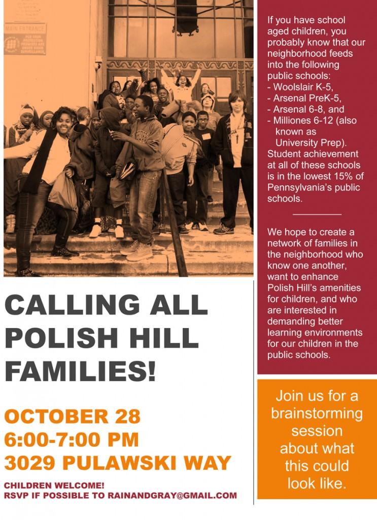 Calling all polish hill Families