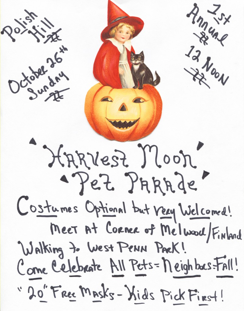 Harvest Moon Pet Parade Oct 2014